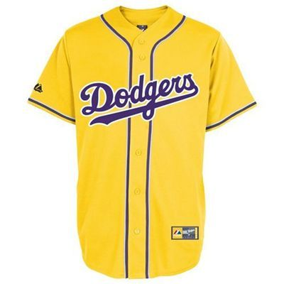 save off 988a2 29b53 Los Angeles Dodgers City Colors Lakers Fashion Replica ...