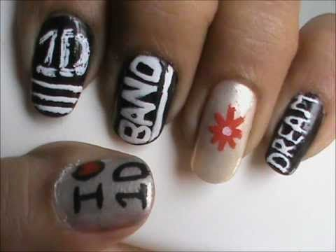 one direction nails easy 1d nail deisgns and nail art for