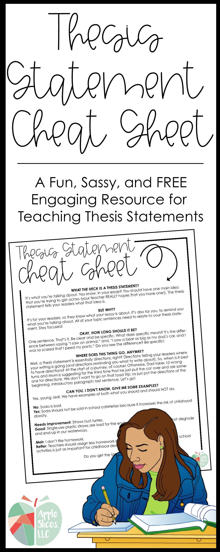 Thesis Statement Cheat Sheet