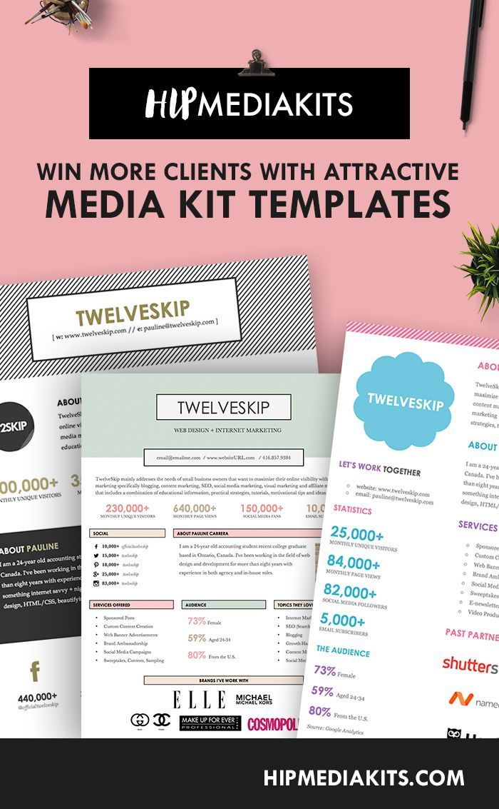 5 Media Kit Templates That Will Win You More Clients Media Kit