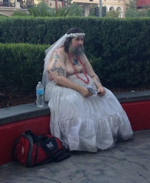 Funny Fail Wedding Gowns: He Always Wanted A White Wedding