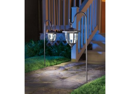 Yards and Beyond® Dual Use Coach Style Solar Lights (L3C-R2-BK  sc 1 st  Pinterest & Yards and Beyond® Dual Use Coach Style Solar Lights (L3C-R2-BK-2 ...