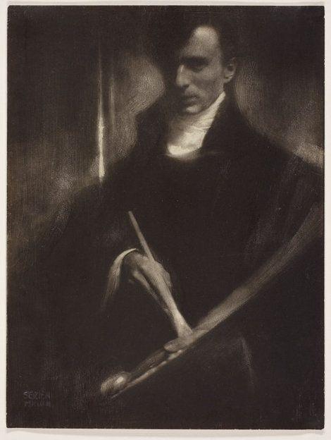 Edward Steichen, Self-Portrait with Brush and Palette, 1902 on ArtStack #edward-steichen #art