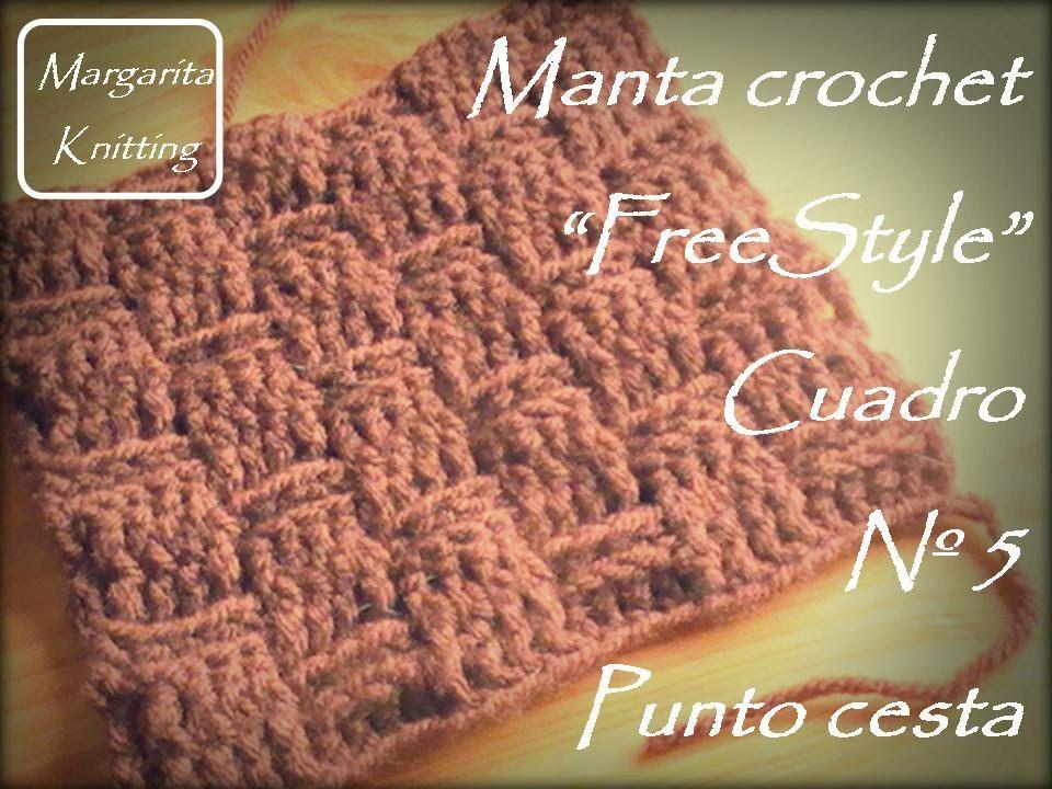 Manta a crochet FreeStyle cuadro 5: punto cesta (diestro ...