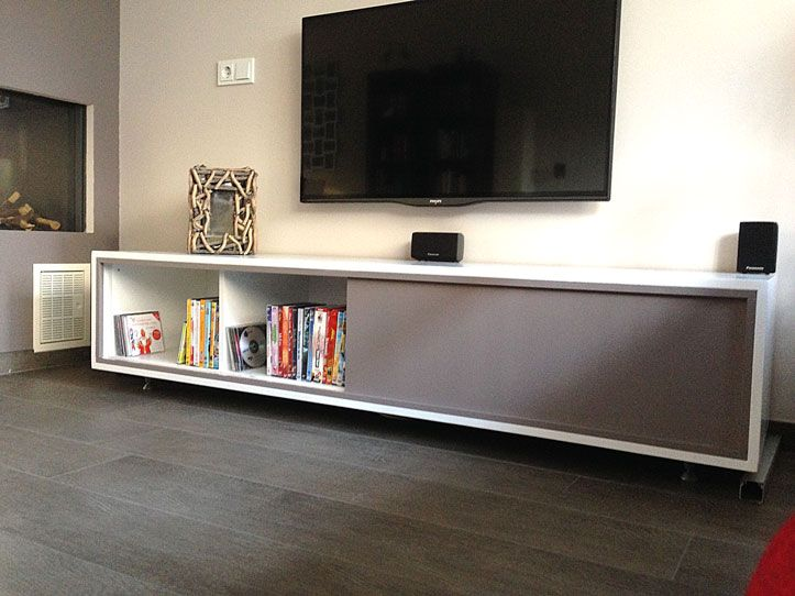 Do-it-yourself: floating modern TV stand by Neo-Eko. | Zelfbouw TV ...