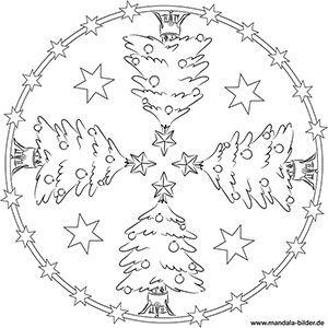 mandalas für kinder zu weihnachten - weihnachtsmandala zum ausmalen | weihnachtsmandala