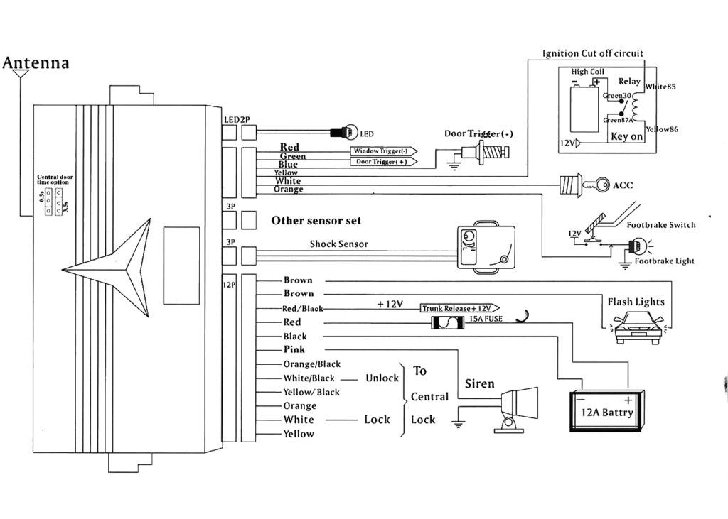 car alarm wiring diagram on security download throughout