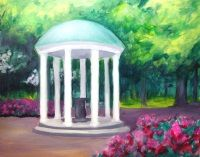 Unc Chapel Hill Old Well Wine Design Painting Ideas