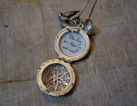 Hunger Games Silver Mockingjay Filigree Locket by jessicajanek, $24.95
