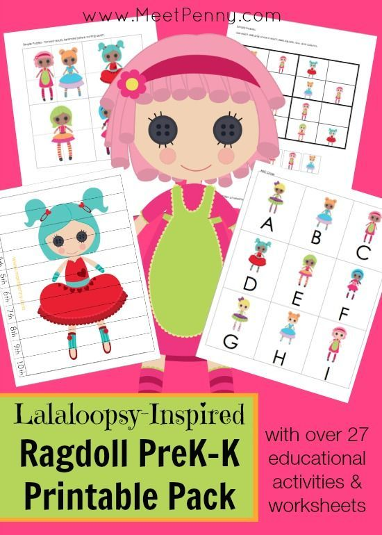 FREE for a limited time! Have a Lalaloopsy fan in your house? This Ragdoll Preschool Printable Pack will be perfect for combining learning with fun! With clip art from Prettygrafikdesign, your little ones will love the happy faces as they complete over 27 educational activities and printable worksheets. For a limited time, subscribers can get this cute printable pack for …