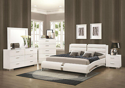 Stanton 5pcs Ultra Modern White Bedroom Set 5pcs Bedroom Set New Furniture Dresser 63 Modern Bedroom Furniture Bedroom Furniture Sets White Bedroom Set