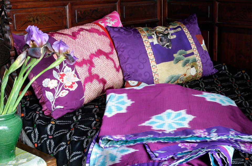 Carolina Breuer's amazing repurposed kimono ... very nice use of gorgeous colors and textures.