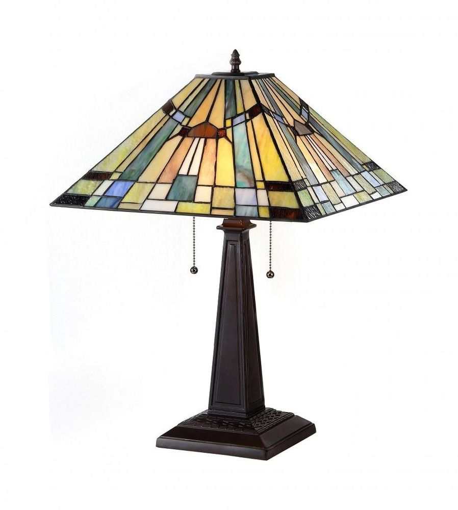 Tiffany Style Stained Glass Table Lamp Clearance Mission Craftsman