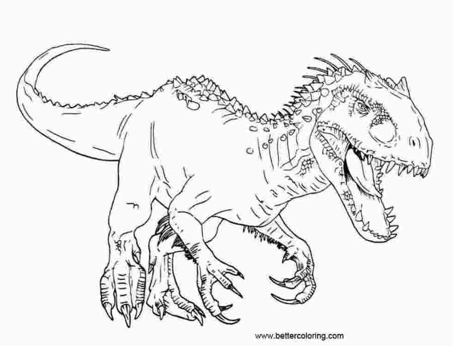 jurassic world tyrannosaurus rex coloring pages t rex vs ...