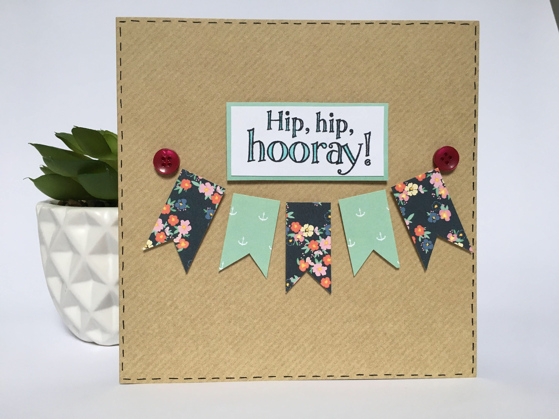 Handmade hip hip hooray congratulationsbirthday card hip hip handmade hip hip hooray congratulationsbirthday card by polkadottygifts on etsy https kristyandbryce Images