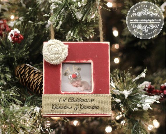 First Christmas as Grandma and Grandpa Ornament by CrystalCoveDS ...