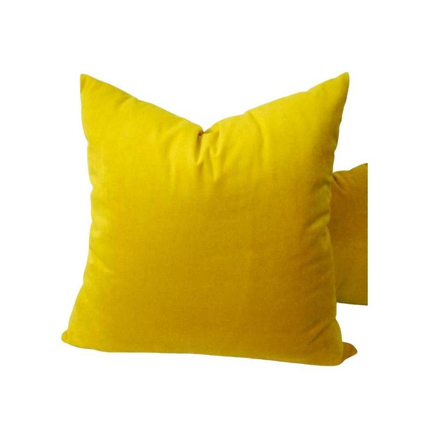 Luxury Yellow Pillow Luxury Yellow Cushion Yellow Velour Pillow Yellow Velour Cushion In 2020 Yellow Pillows Yellow Cushions Pillows