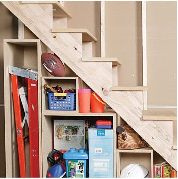 maximizing small spaces under the stairs storage organization rh pinterest com