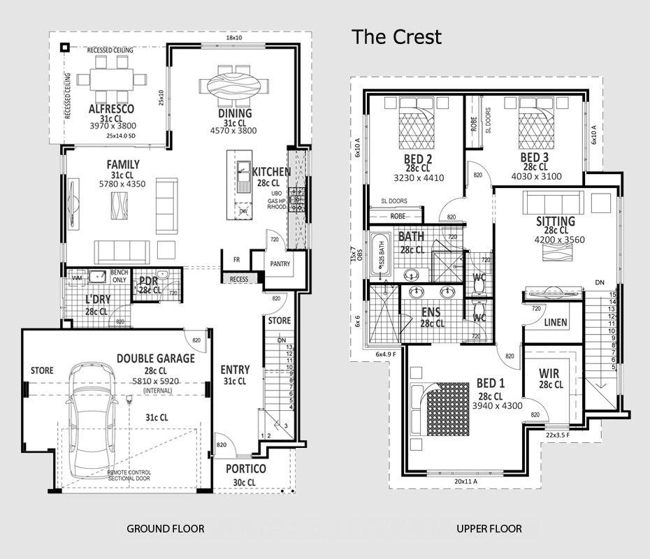 The Crest Novus Home House Plans Floor Plans Bedroom Floor Plans