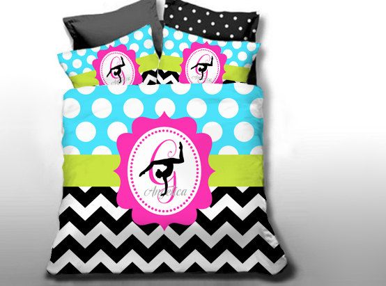 Customize Colors Gymnastics Bedding Set Monogrammed By Slive88
