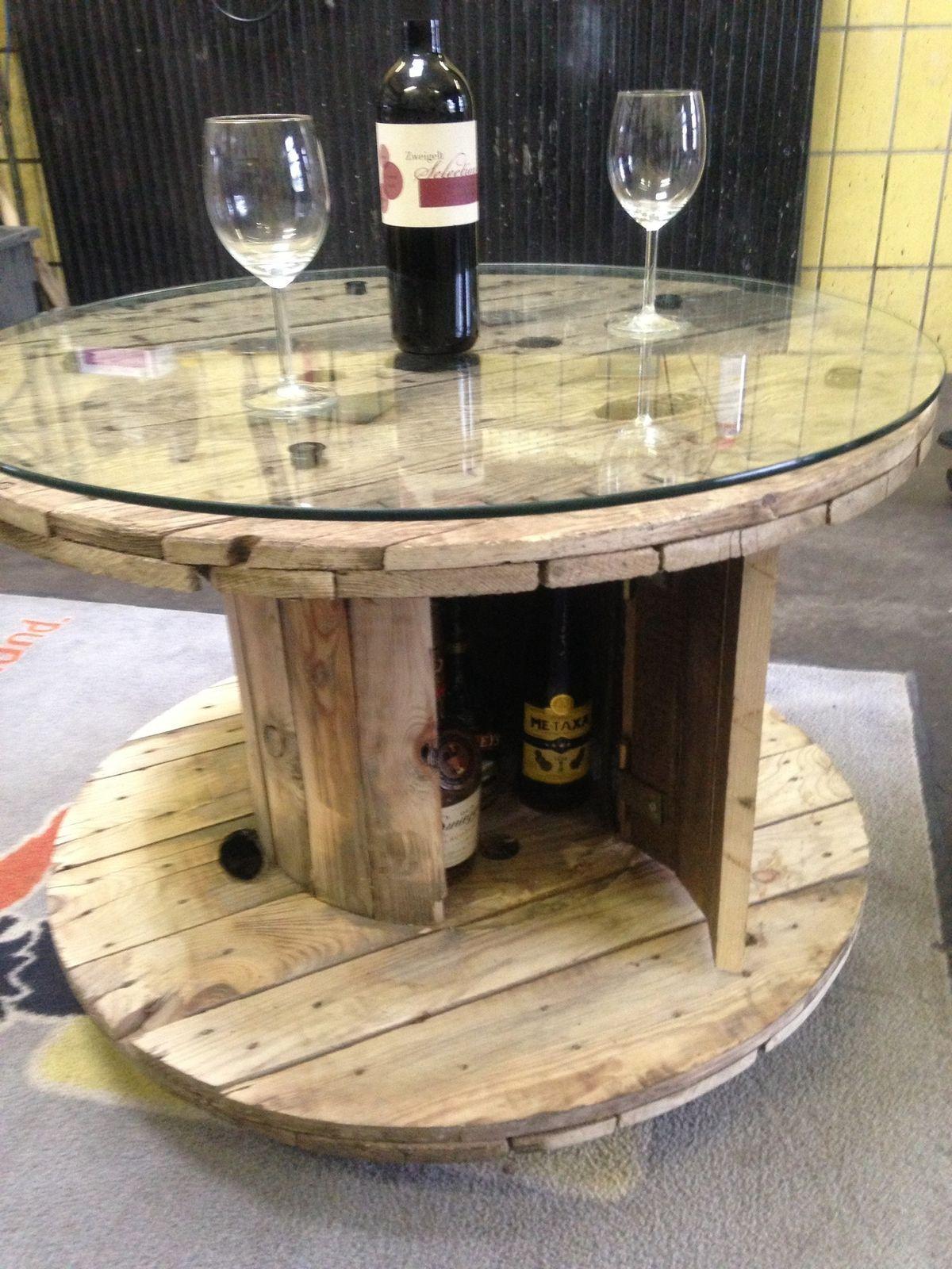 Kabeltrommel tisch kabeltrommel carrete de madera for Europaletten mobel tisch