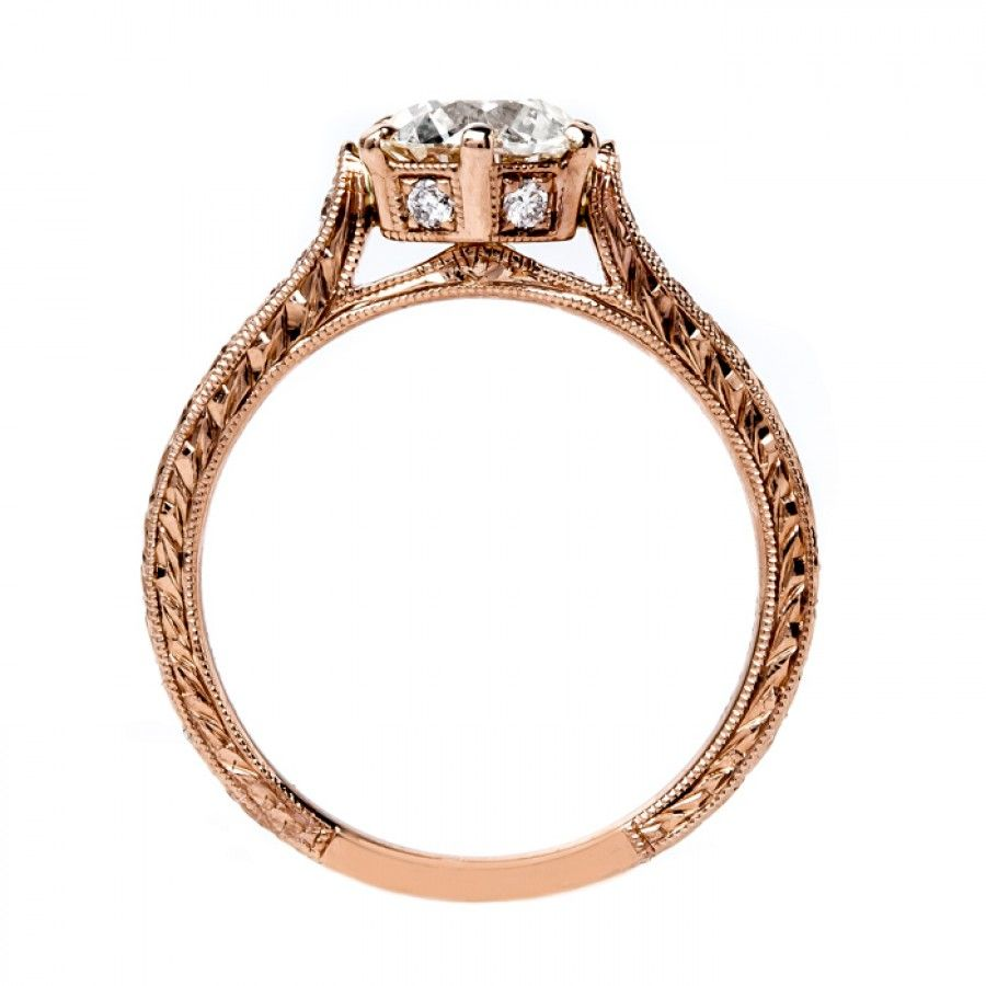 Timeless rose gold solitaire marigold ring design pinterest