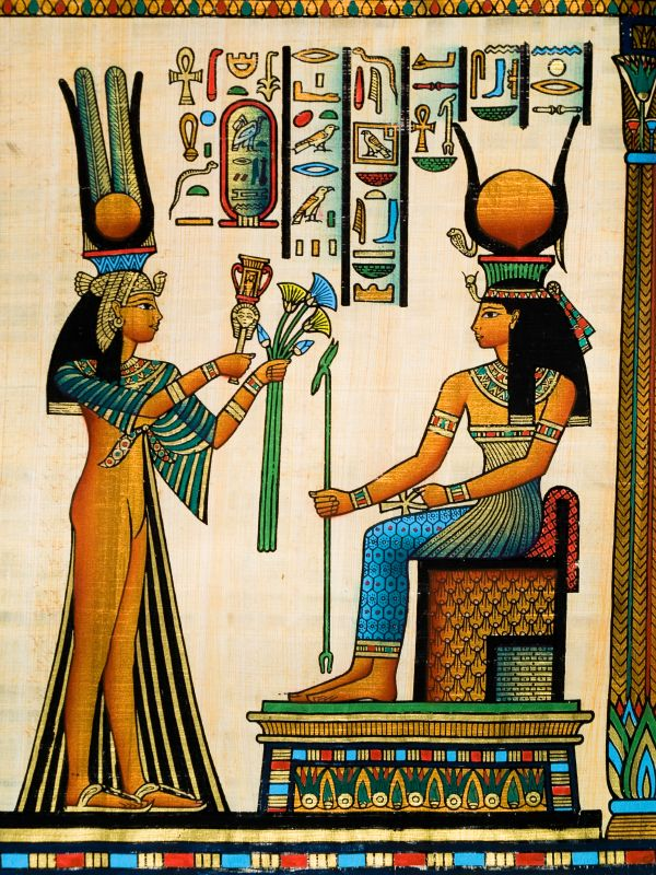 Egyptian Papyrus Art Love The Art Wish I Could Afford To