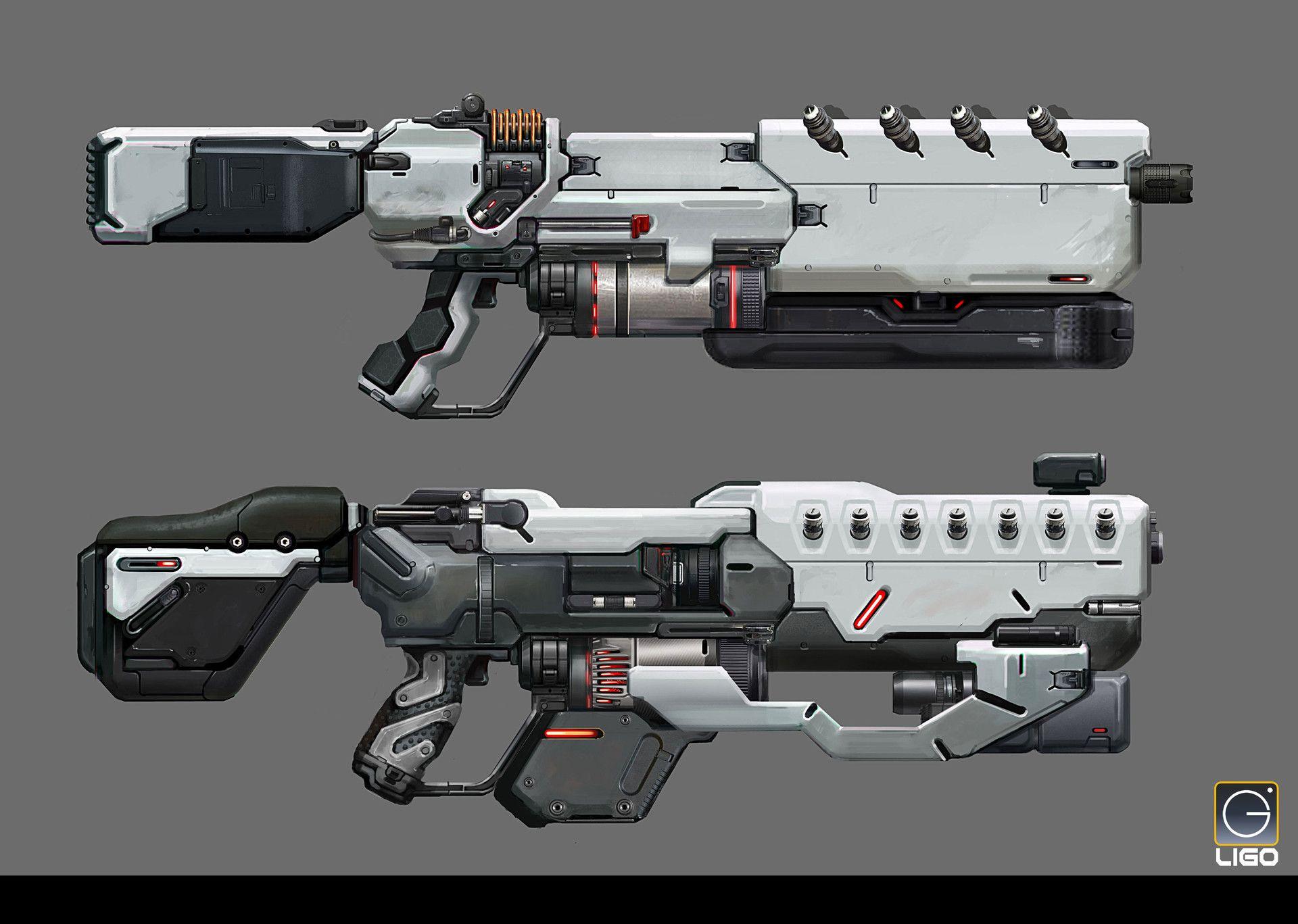 ArtStation - Assault rifle Design for the RISING FIRE, Jay ...
