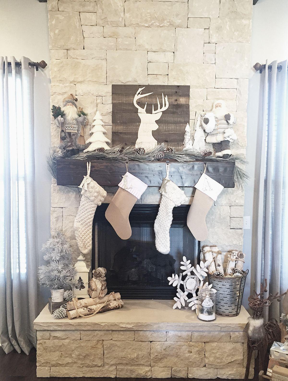 Rustic Farmhouse Christmas Mantel Ideas And DIY