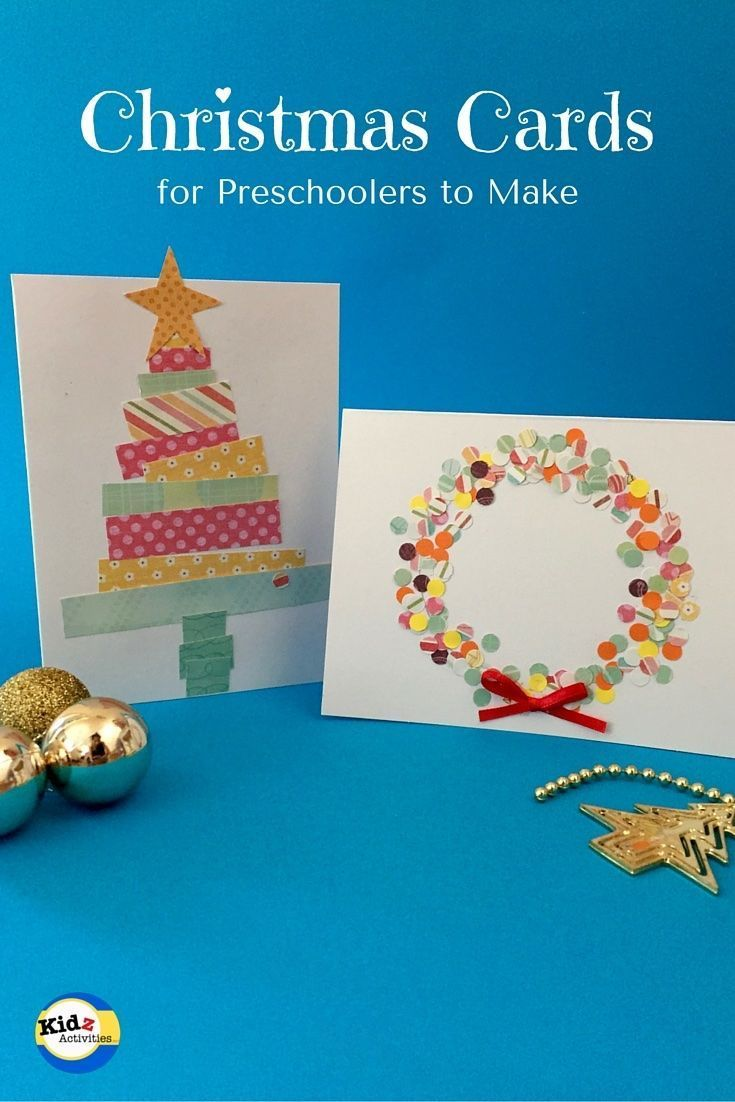 Christmas Cards for Preschoolers to Make - Kidz Activities   Work ...