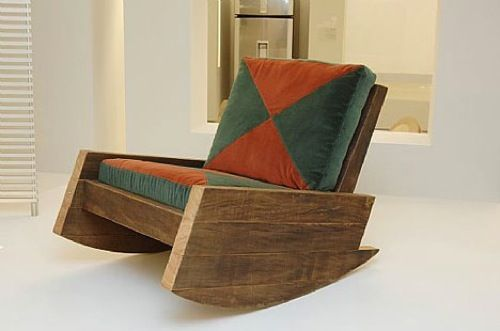 Reclaimed Wood Rocker -by Carlos Motta Asturias