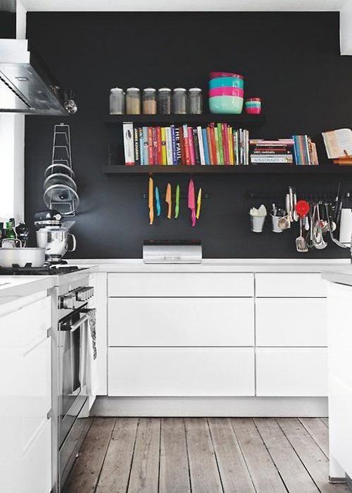 20 idées de cuisine noir et blanc Idée de cuisine, Cuisine noir et