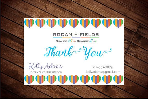 Rodan and Fields Thank You Cards, r and f thank you card, love r ...