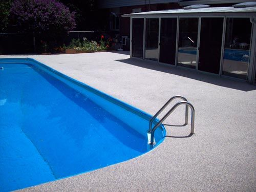 Rubber Pool Deck After Covered Decks