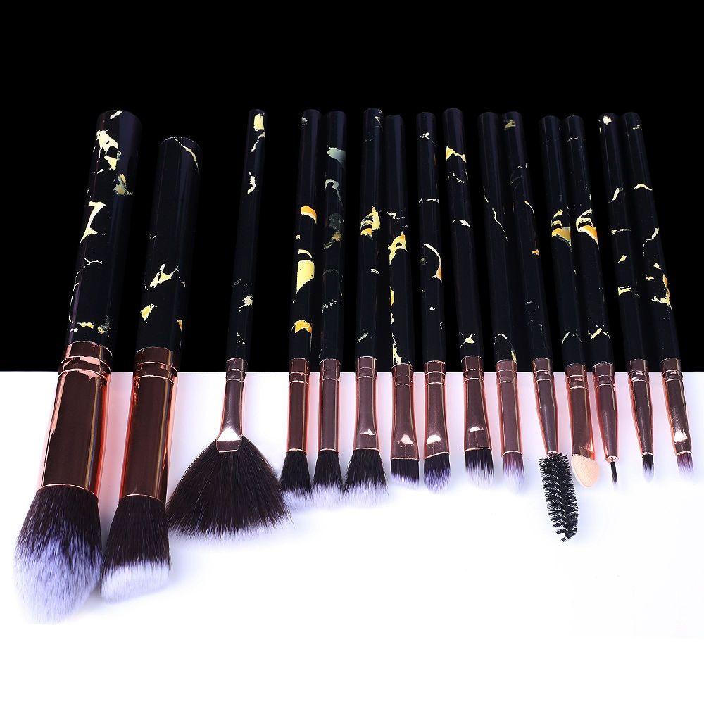5/10/15 Stück Marmor Make-Up Pinsel Werkzeug Natürliche Pinsel Set Kit Professionelle Pulver Kleine Hohe Qualität Highlighter Lip Lidschatten – 15pcs-366