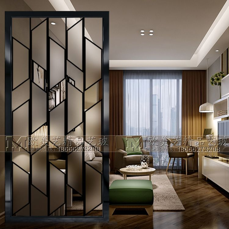Home Art Glass Partition Light Luxury Bathroom Screen Dry And Wet Area Simple Modern Living Room Partition Design Room Partition Designs Modern Partition Walls Glass partition for living room