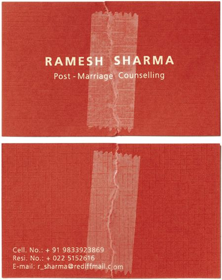 Ramesh Sharma Post Marriage Counseling Business Card business