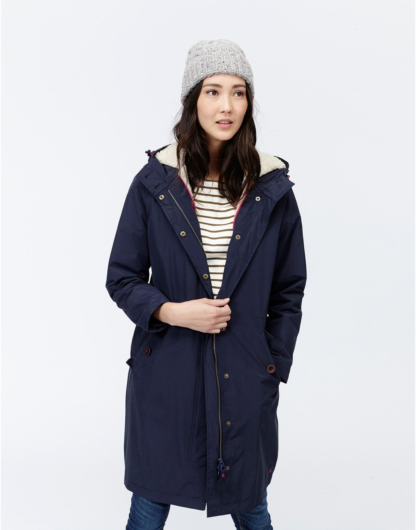 Joules Womens Waterproof Longline Parka, Marine Navy. Part of our ...