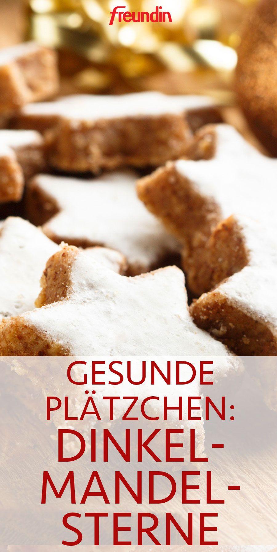 Gesunde Plätzchen: Dinkel-Mandel-Sterne #foodanddrink