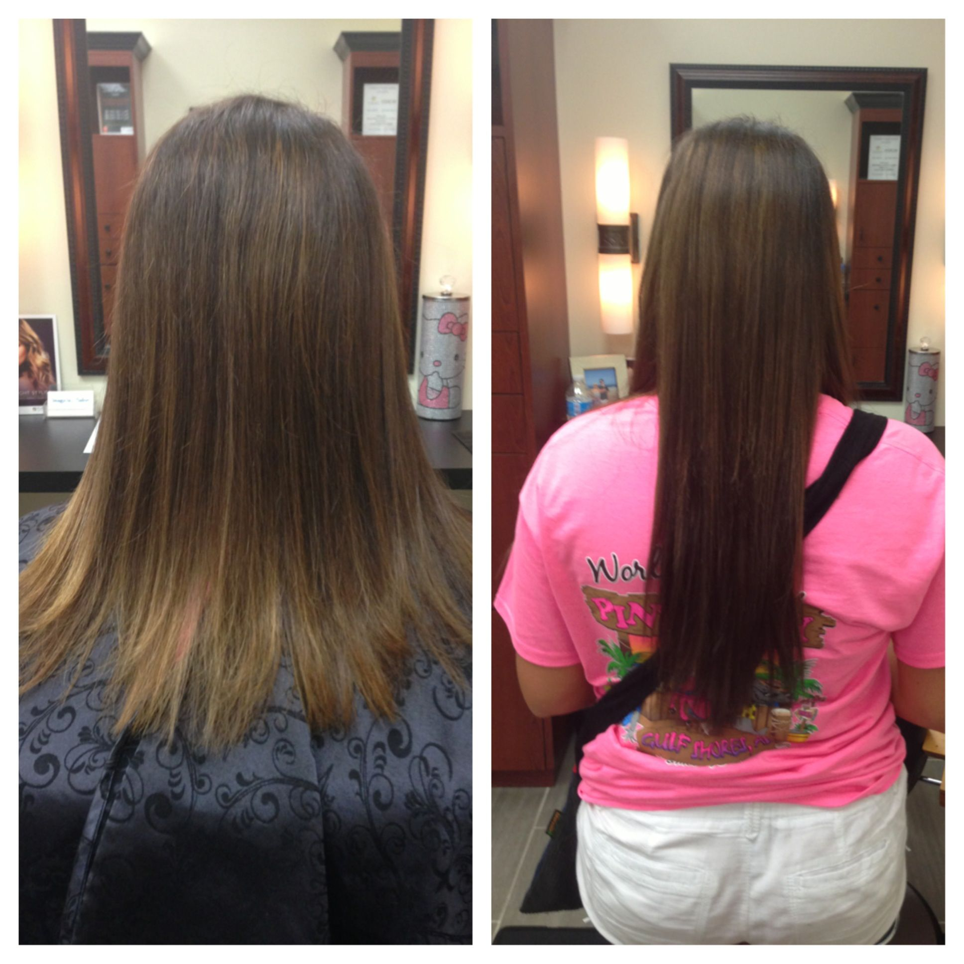 Before And After A Full Head Of Babe Hair Extensions Niki