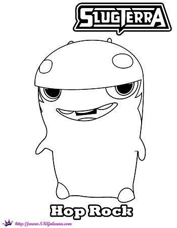 Slugterra Hop Rock Printable Coloring Page And Wallpaper Coloring Pages Monster Coloring Pages Owl Coloring Pages
