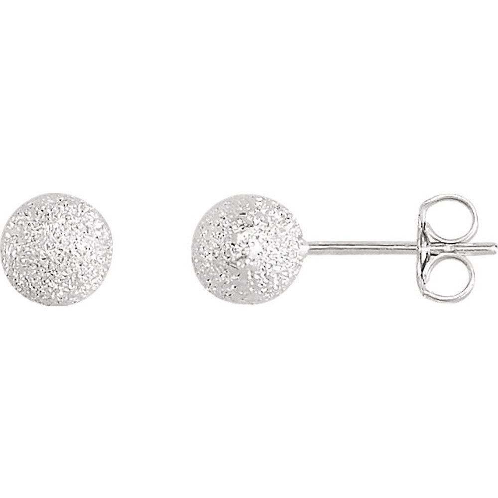 Solid 925 Sterling Silver Polished Heart Post Earrings 8mm x 8mm