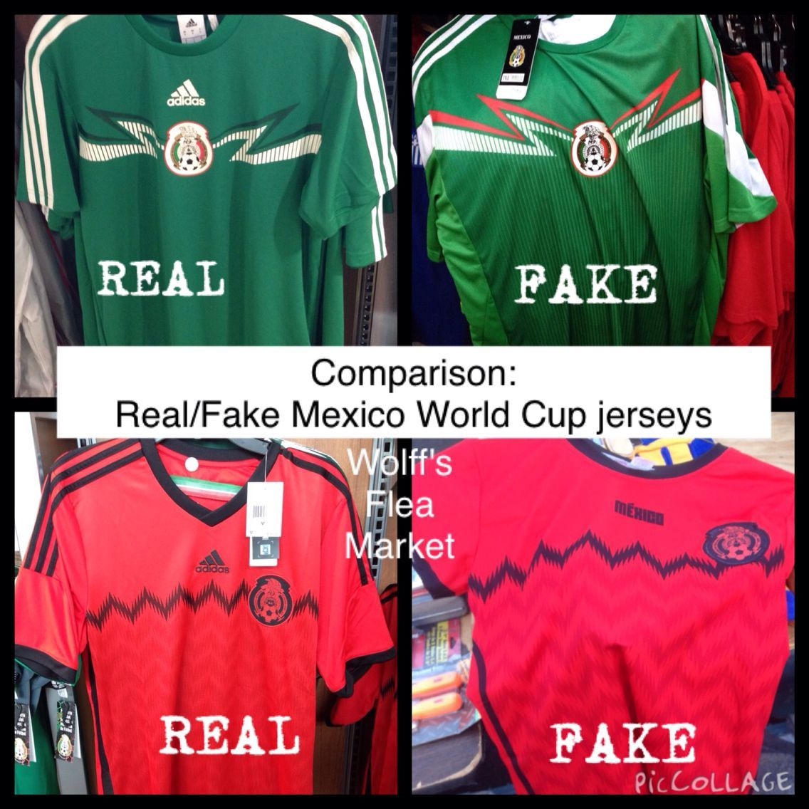 93b1418c9b2 COMPARISON OF REAL AND FAKE MEXICO WORLD CUP JERSEYS