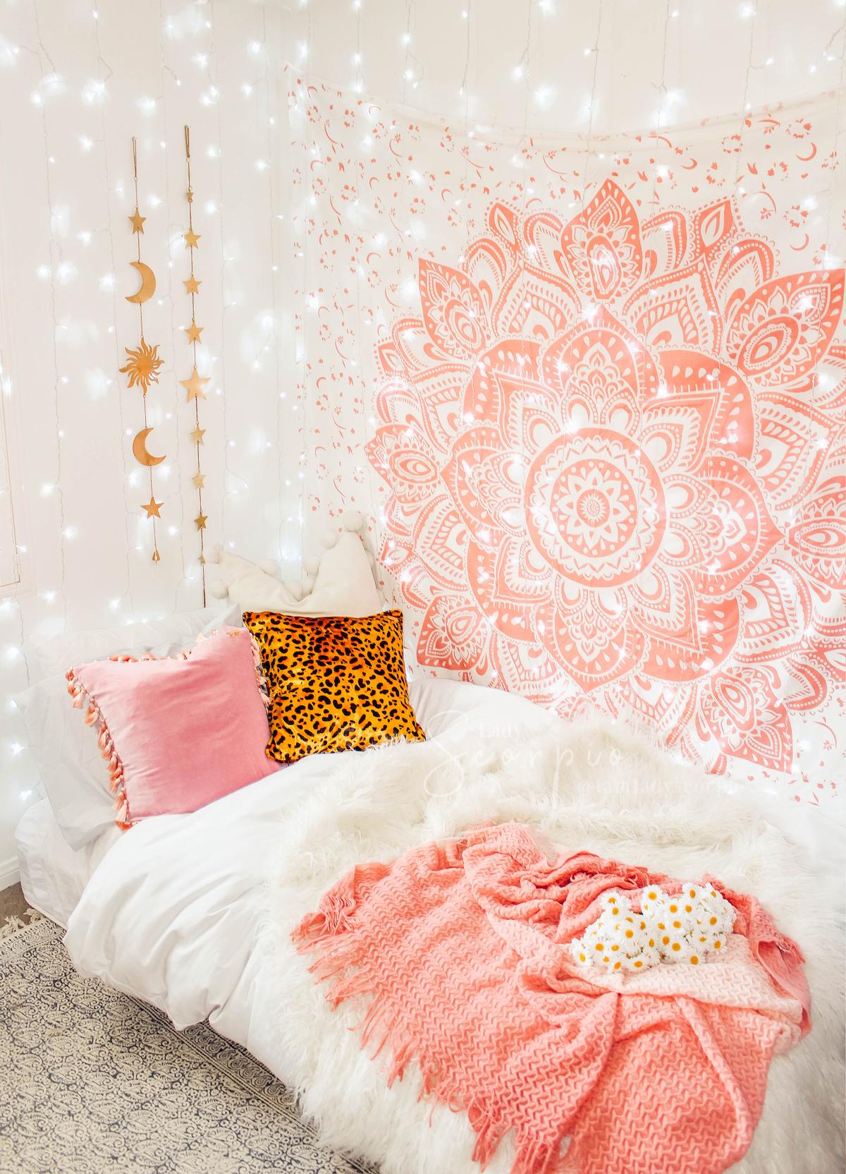 Blush Rose Mandala Tapestry images
