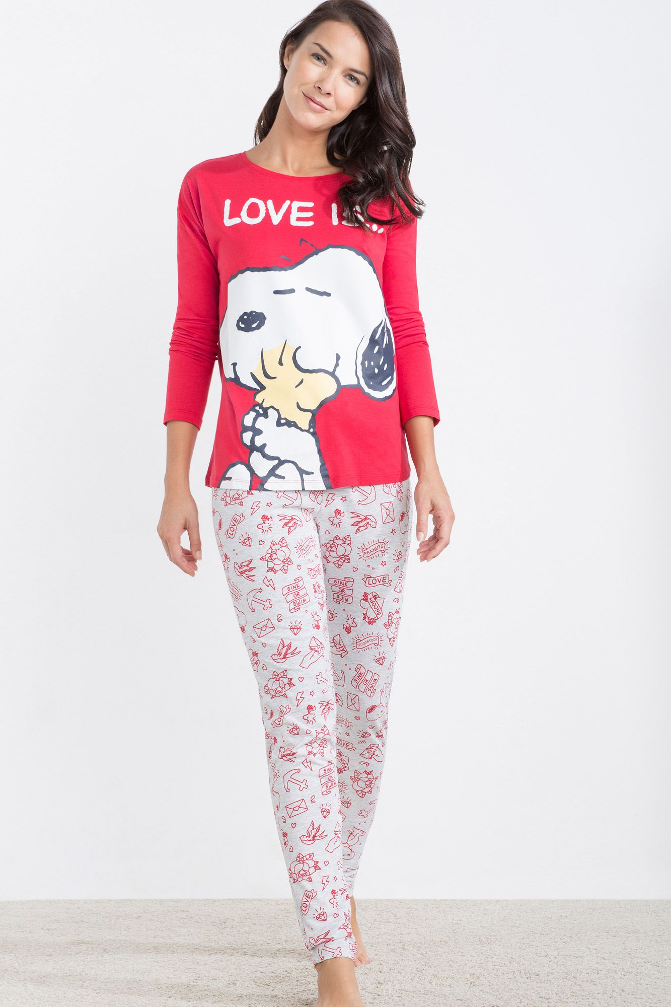 31f328c240 Women´secret - Pijama largo de Snoopy  Love is...