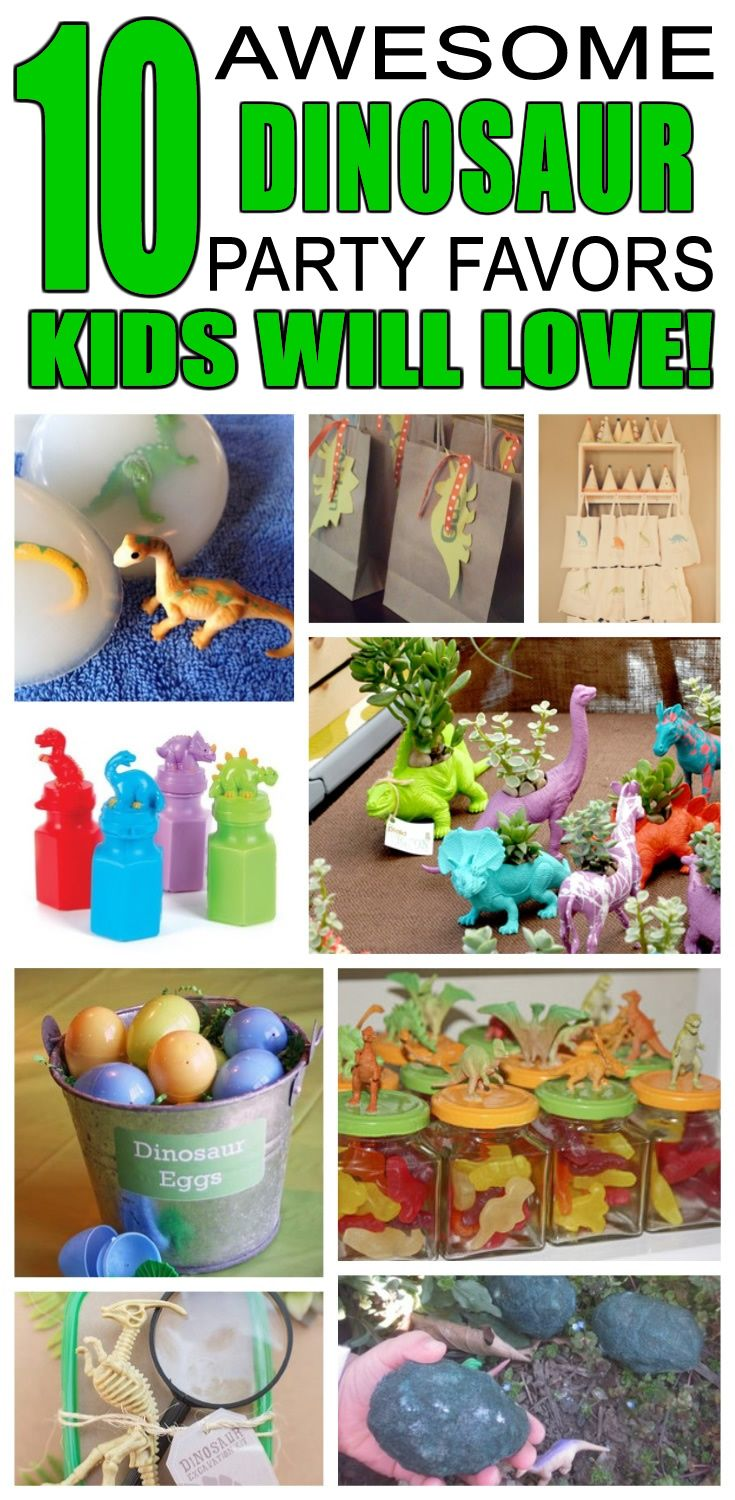 great dinosaur party favors kids will love fun and cool dinosaur birthday party favor ideas for children easy goody bags treat bags gifts and more for
