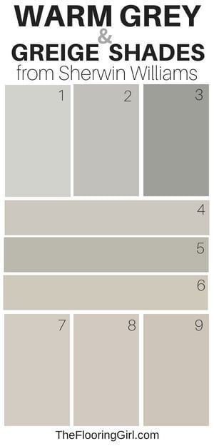 9 Amazing Warm Gray Paint Shades from Sherwin Williams warm gray and greige paint shades from Sherwin Williams