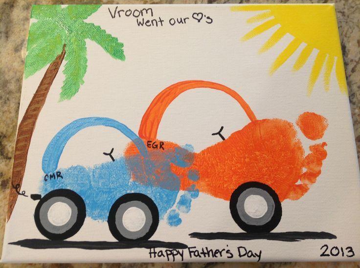 Beautiful Car Craft For Kids Part - 4: Car Footprint Craft For Kids