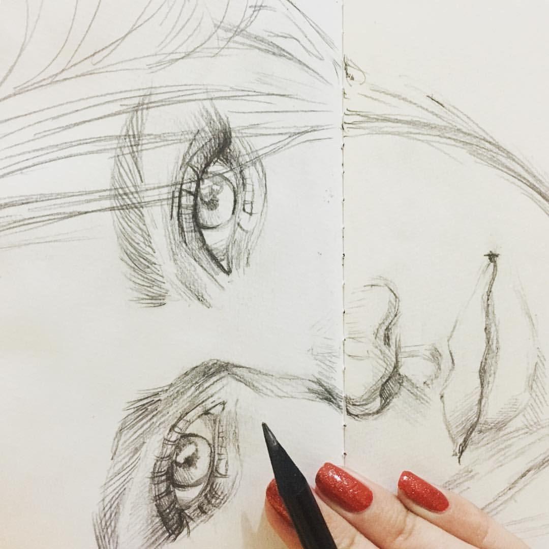 Второянварские скетчи) 🎄👌На каникулах рисовать совсем ...