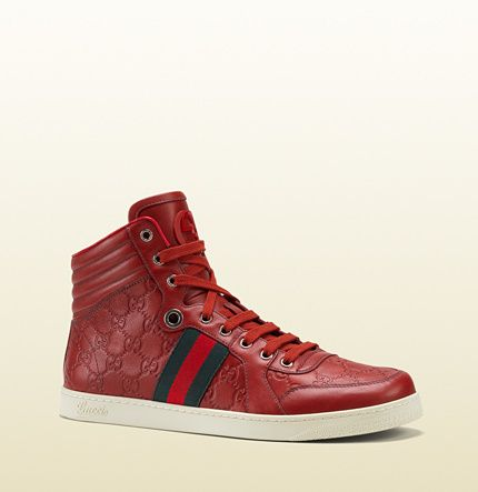 Guccissima Leather High-Top Sneaker